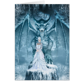 Ice Queen and Dragon Note Card