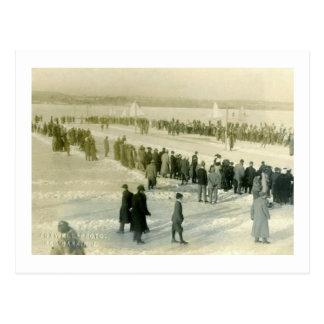 Ice Races on Shrewsbury River, Red Bank NJ Vintage Postcard