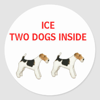 ICE rescue TWO DOGS INSIDE Round Sticker