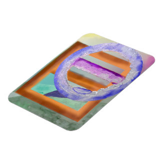 Ice Ring Abstract Design Rectangular Photo Magnet