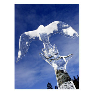 Ice sculpture at Lake Louise, Alberta, Canada Postcard