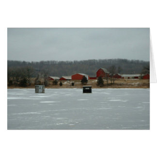 Ice shacks card