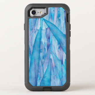 Ice Shards Blue Watercolor Otterbox OtterBox Defender iPhone 7 Case