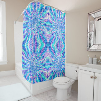 Ice Shards Shower Curtain
