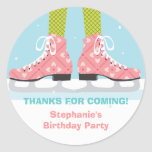 Ice Skate Birthday Party Thank You Sticker
