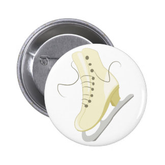Ice Skate Pinback Buttons