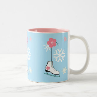 Ice Skate Two-Tone Coffee Mug