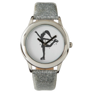 Ice Skater in Silhouette Watch