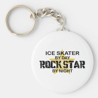 Ice Skater Rock Star by Night Keychain