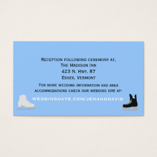 Ice Skaters Wedding Enclosure Card