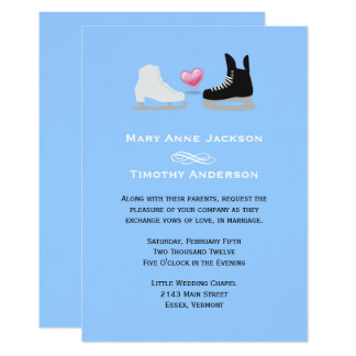 Ice Skaters Wedding Invitation