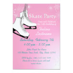 "Ice Skates and Snowflakes Birthday 5"" X 7"" Invitation Card"