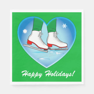 Ice Skates at Christmas Disposable Napkin