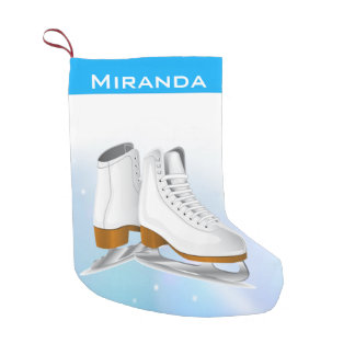 Ice Skates Christmas Stocking