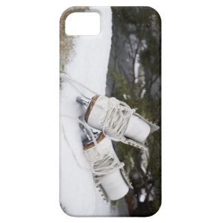 Ice skates, figure skates In snow iPhone 5 Cases