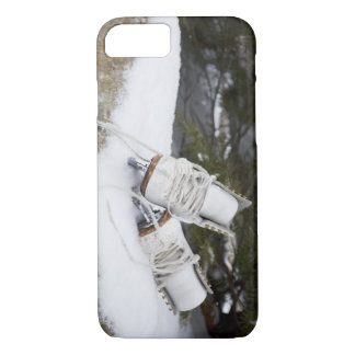 Ice skates, figure skates In snow iPhone 7 Case