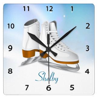 Ice Skates Wall Clock