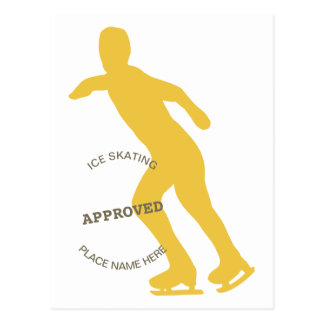 Ice Skating Approved Postcard