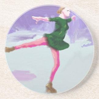 Ice Skating Art Coaster