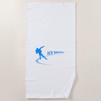 Ice Skating Beach Towel