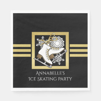 Ice Skating Birthday | Christmas Party Modern Chic Paper Napkin