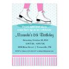 Ice Skating Birthday Party Invitation