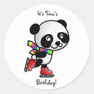 Ice Skating Birthday Sticker