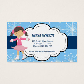 Ice Skating (Blue) Business Card