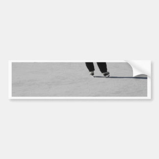 Ice Skating Bumper Sticker