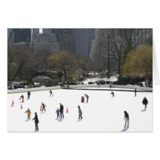 Ice Skating Central Park Greeting Card