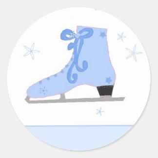 Ice Skating Classic Round Sticker