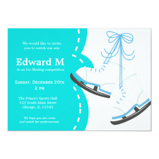 "Ice Skating competition 5"" X 7"" Invitation Card"