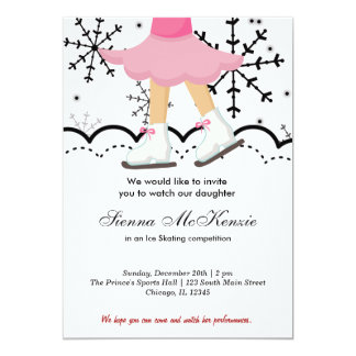 "Ice Skating Competition (White) 5"" X 7"" Invitation Card"