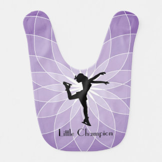 Ice Skating Design Baby Bib
