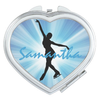 Ice Skating Design Compact Makeup Mirrors