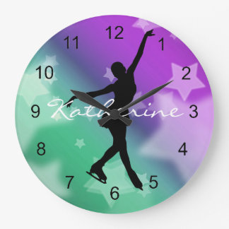 Ice Skating Figure Skating Design Wall Clock