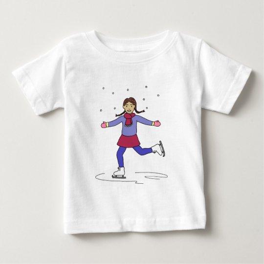 Ice Skating Girl Figure Skater Baby T-Shirt