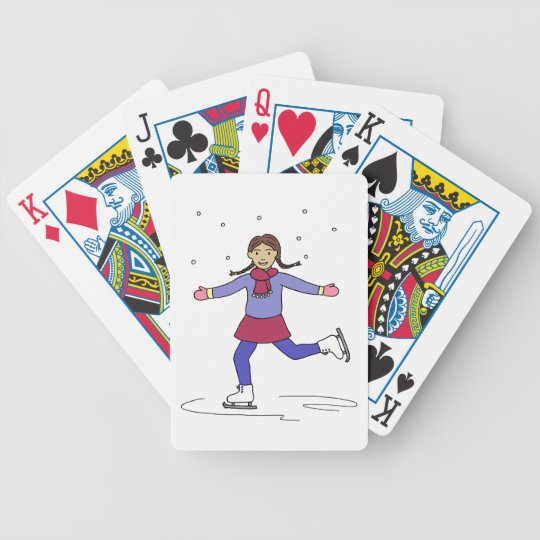 Ice Skating Girl Figure Skater Bicycle Playing Cards