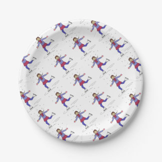 Ice Skating Girl Figure Skater Birthday Party Paper Plate