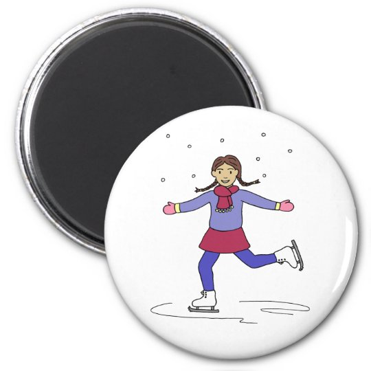 Ice Skating Girl Figure Skater Magnet