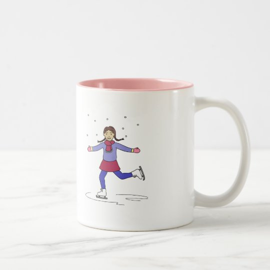 Ice Skating Girl Figure Skater Two-Tone Coffee Mug