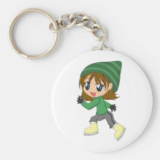 Ice-skating Girl Keychain