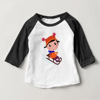 Ice skating girl Orange Baby T-Shirt