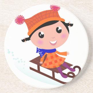 Ice skating girl Orange Coaster