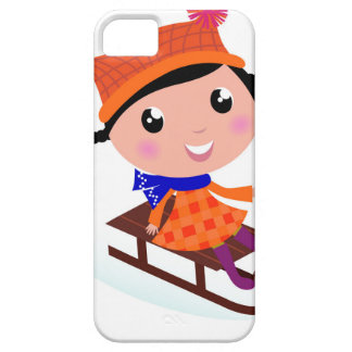 Ice skating girl Orange iPhone 5 Covers