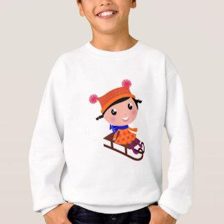 Ice skating girl Orange Sweatshirt