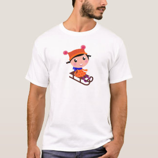Ice skating girl Orange T-Shirt