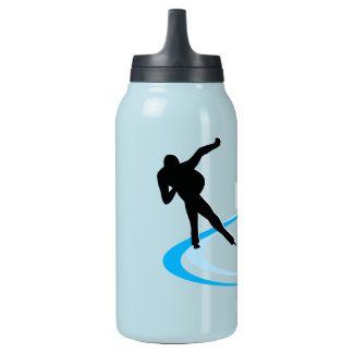 Ice Skating Insulated Water Bottle