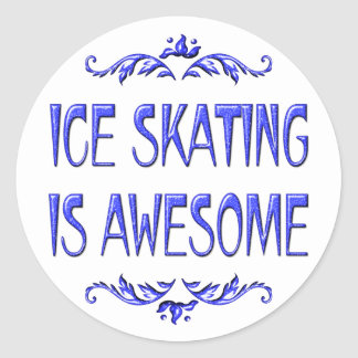 Ice Skating is Awesome Classic Round Sticker