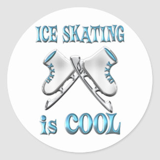 Ice Skating is Cool Classic Round Sticker
